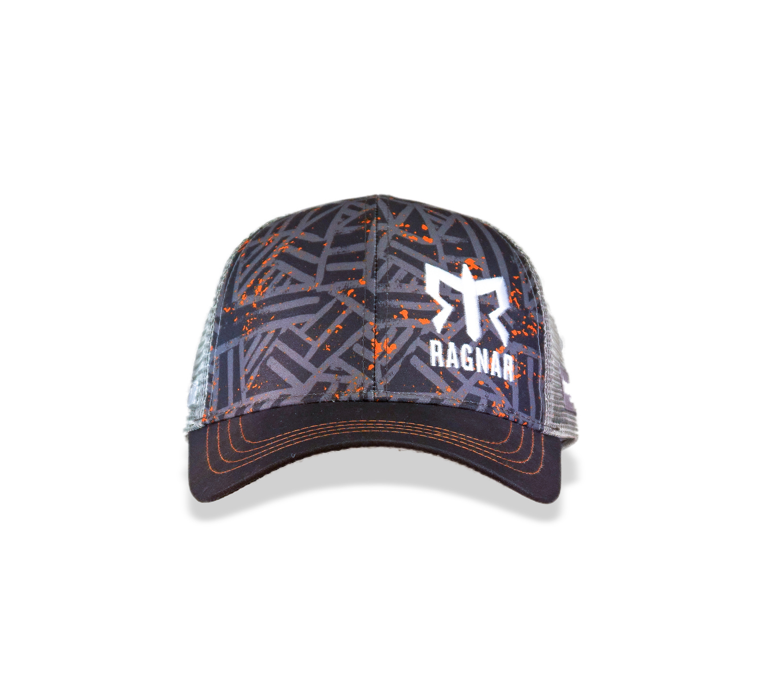 Men's Ragnar Technical Trucker Hat - Grey/Orange Flecks
