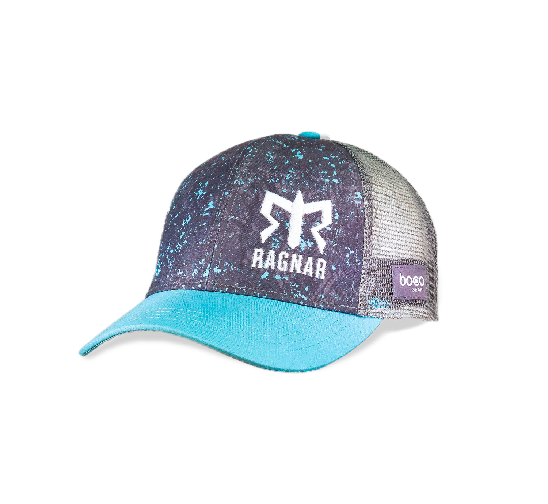 Women's Ragnar Technical Trucker Hat - Grey/Teal Flecks