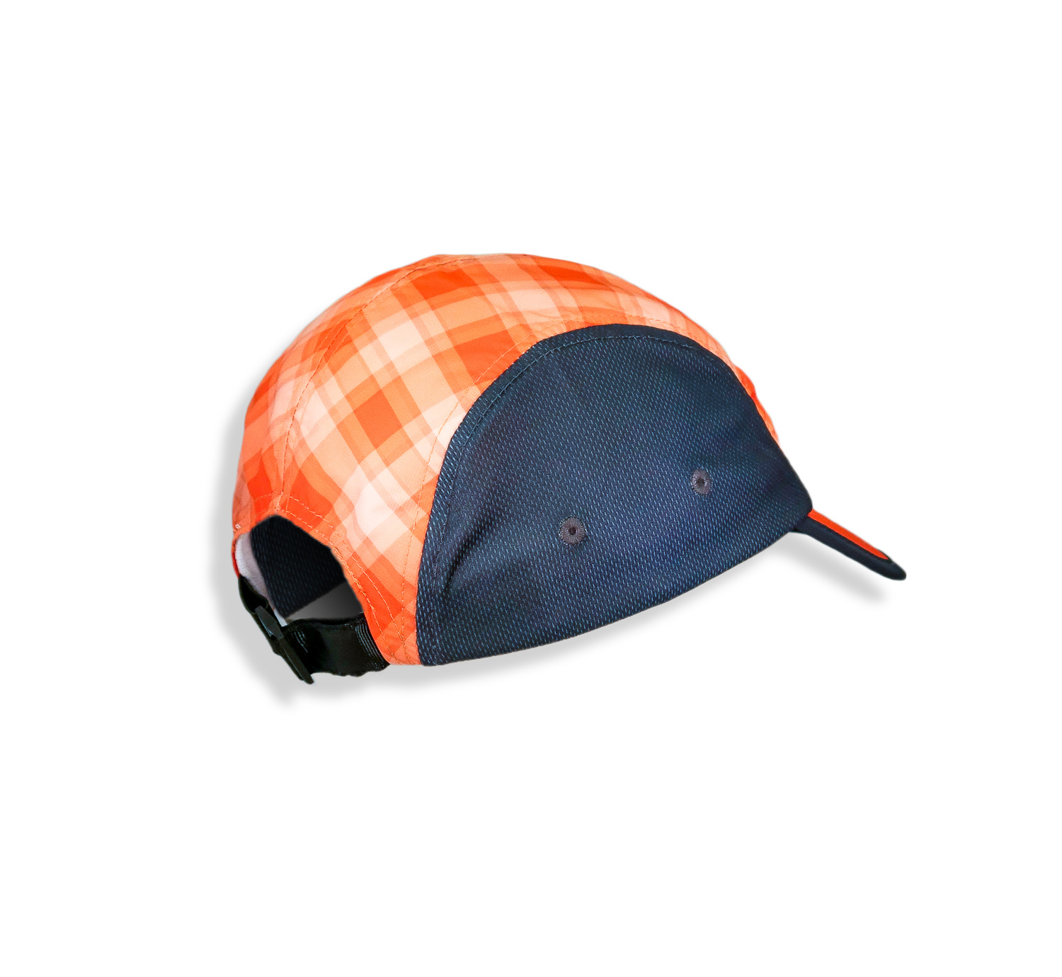 Ragnar Endurance Hat - Plaid (Grey/Orange)