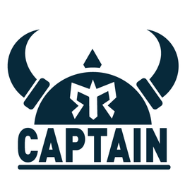 Captain Sticker - Cobalt Blue