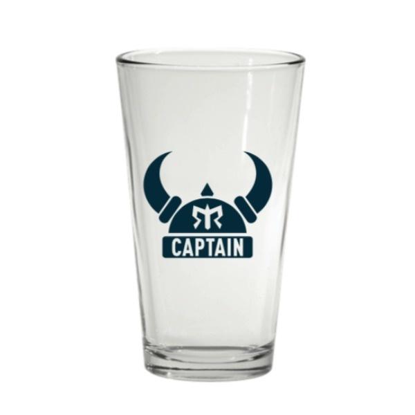Ragnar Captain Pint Glass (Blue Logo)