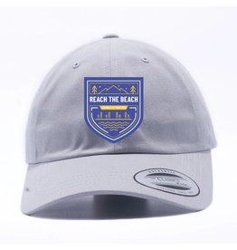 RTB Peached Cotton Twill Cap, Light Grey, OSFM