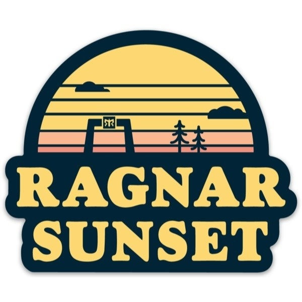 Magnet with Sunset Logo