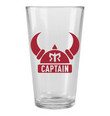 Ragnar Captain Pint Glass (Red Logo)