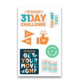 31 Day Challenge Sticker Sheet