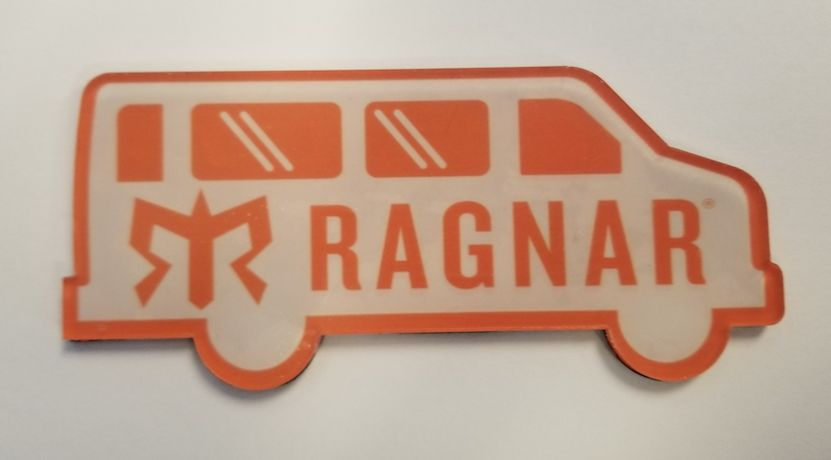 Magnet with Road Mask Logo