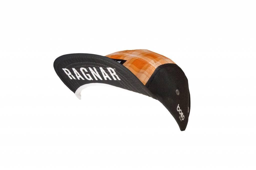 Ragnar Endurance Hat - Plaid (Grey/Orange)