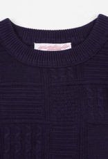 YARDSALE YARDSALE KNITTED SWEATER - NAVY
