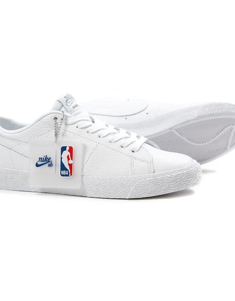 NIKE NIKE BLAZER LOW NBA - WHITE/WHITE