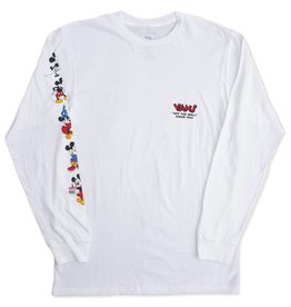 VANS VANS MICKEYS 90TH L/S TEE - WHITE
