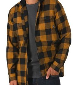 VANS VANS KENTON HOODED FLANNEL - BLACK-RUBBER
