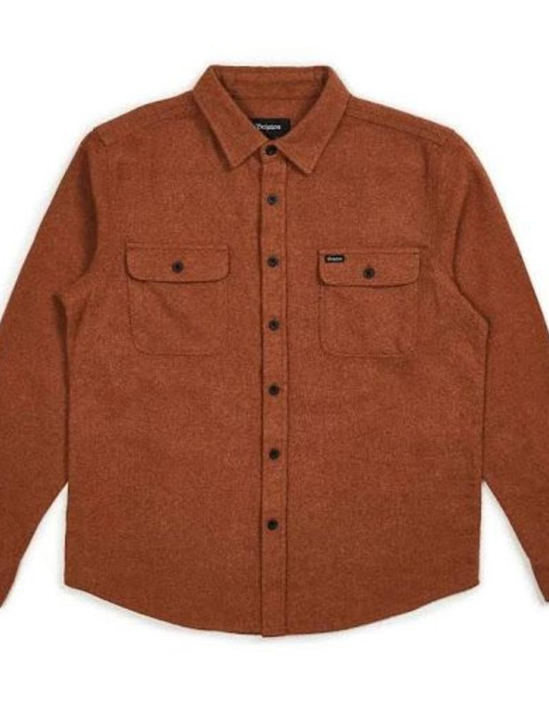 BRIXTON BRIXTON BOWERY SOLID L/S FLANNEL