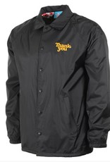 THANK YOU SKATEBOARDING THANK YOU FLOWER POWER COACH JACKET - BLACK