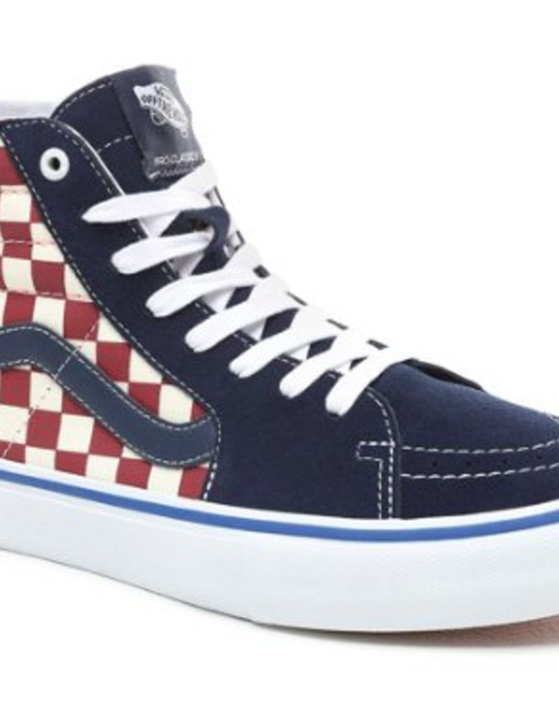 2ea18316589b VANS SK8 HI PRO - (CHECKER) DRESS BLUES - KINGSWELL