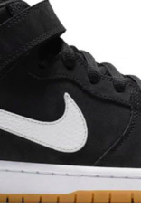 NIKE NIKE SB DUNK MID PRO ISO - (ORANGE LABEL) BLACK/WHITE-BLACK