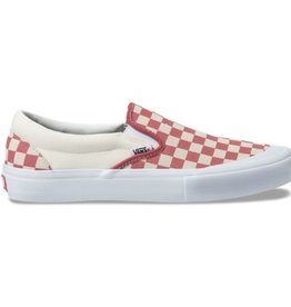 VANS VANS SLIP ON PRO - (CHECKERBOARD) MINERAL RED