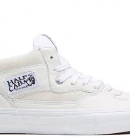 VANS VANS HALF CAB PRO - (LEATHER) WHITE