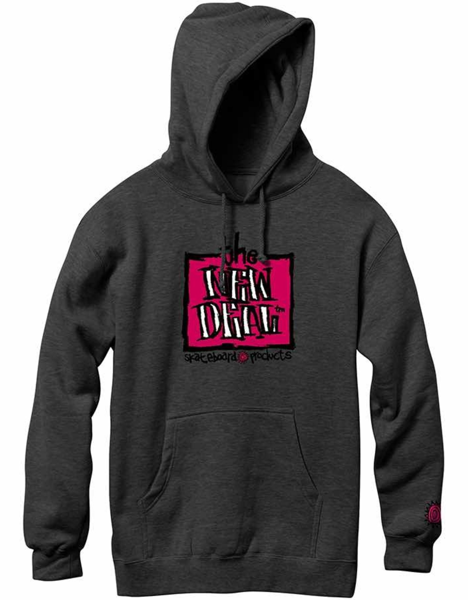 THE NEW DEAL THE NEW DEAL ORIGINAL NAPKIN HOODIE - CHARCOAL HEATHER