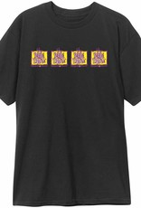 THE NEW DEAL THE NEW DEAL ORIGINAL NAPKIN 4 BAR S/S TEE - BLACK