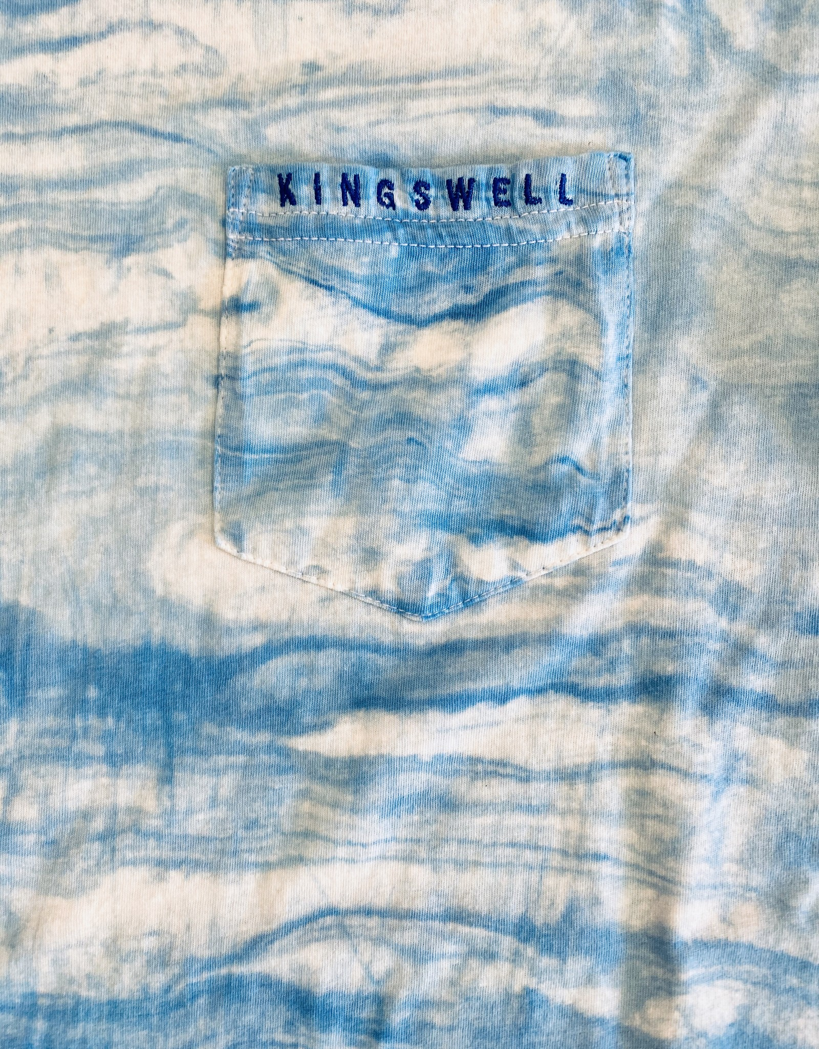 KINGSWELL KINGSWELL K-DUB HOMETOWN EMBROIDERED POCKET TEES