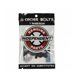 INDEPENDENT INDEPENDENT ALLEN CROSS HARDWARE BLACK - 1 INCH
