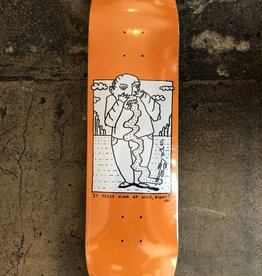 POLAR SKATE CO. TEAM KIND OF NICE DECK ORANGE - 8.375
