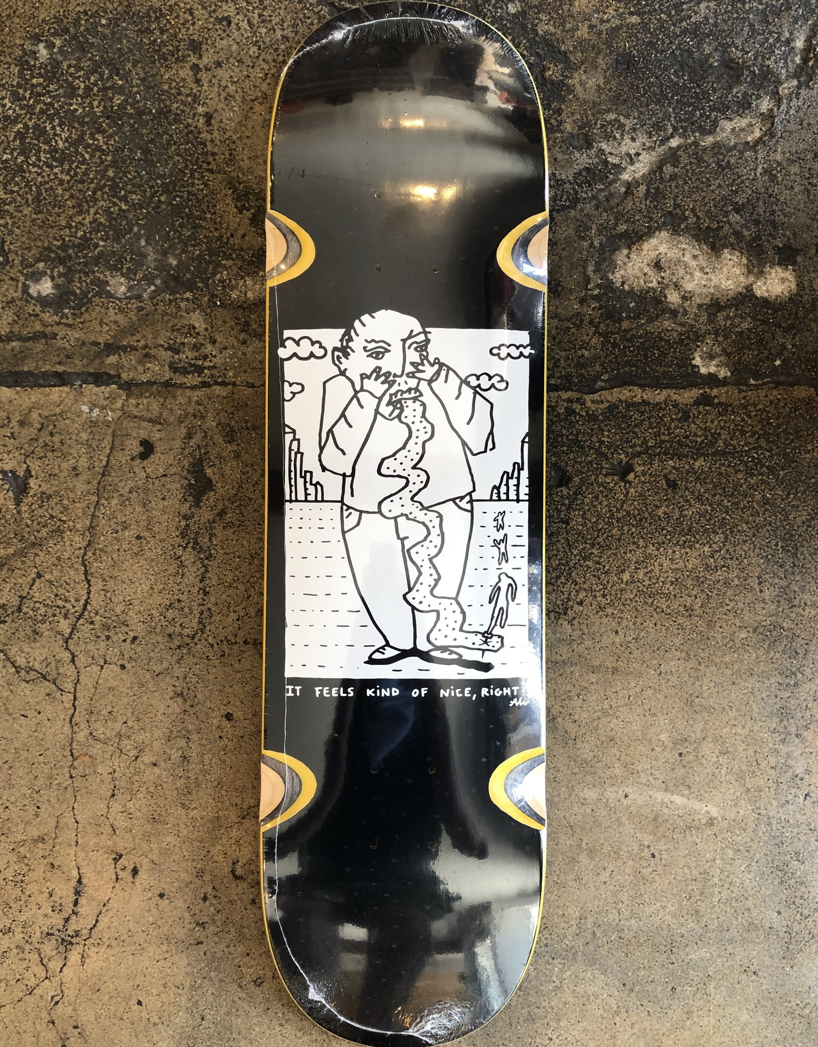 POLAR SKET CO. TEAM KIND OF NICE DECK BLACK - WHEEL WELL 8.25