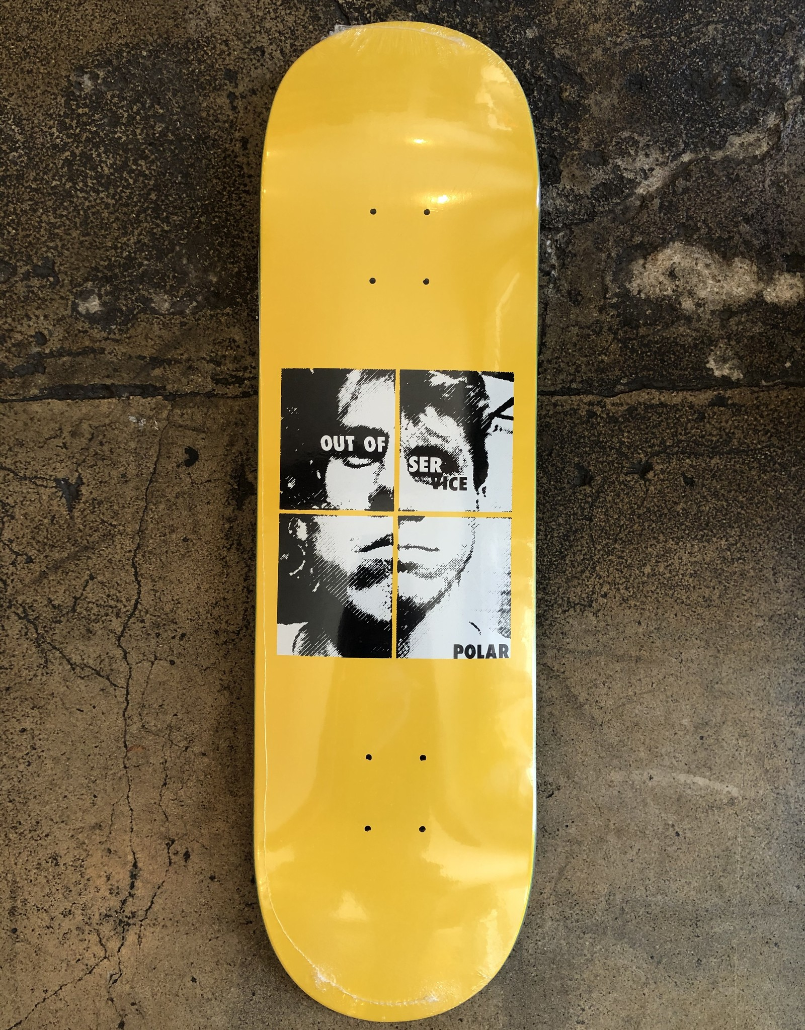 POLAR SKATE CO. DANE BRADY OUT OF SERVICE YELLOW DECK - 8.625
