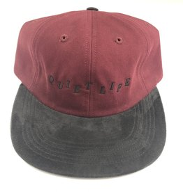 QUIET LIFE QUIET LIFE STAGGER HAT - BURGUNDY/BLACK
