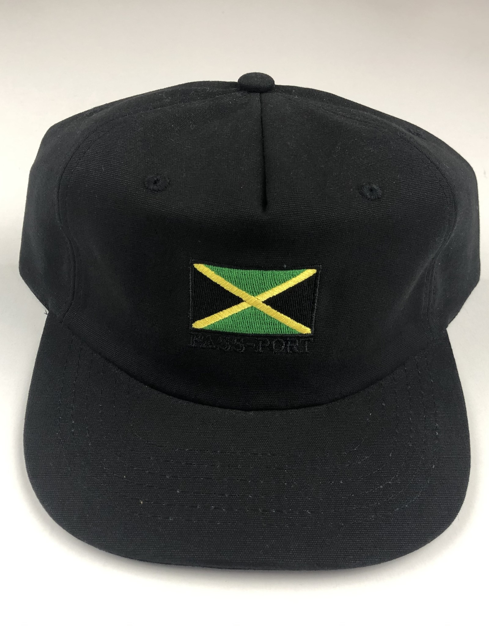 PASSPORT PASSPORT JAMAICA 5 PANEL HAT - BLACK