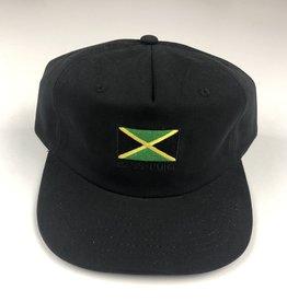 PASSPORT PASSPORT JAMAICA 5 PANEL HAT - BLACK