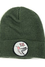 TRANSPORTATION UNIT TRANSPORTATION UNIT HUMMING BIRD BEANIE - OLIVE/GREY