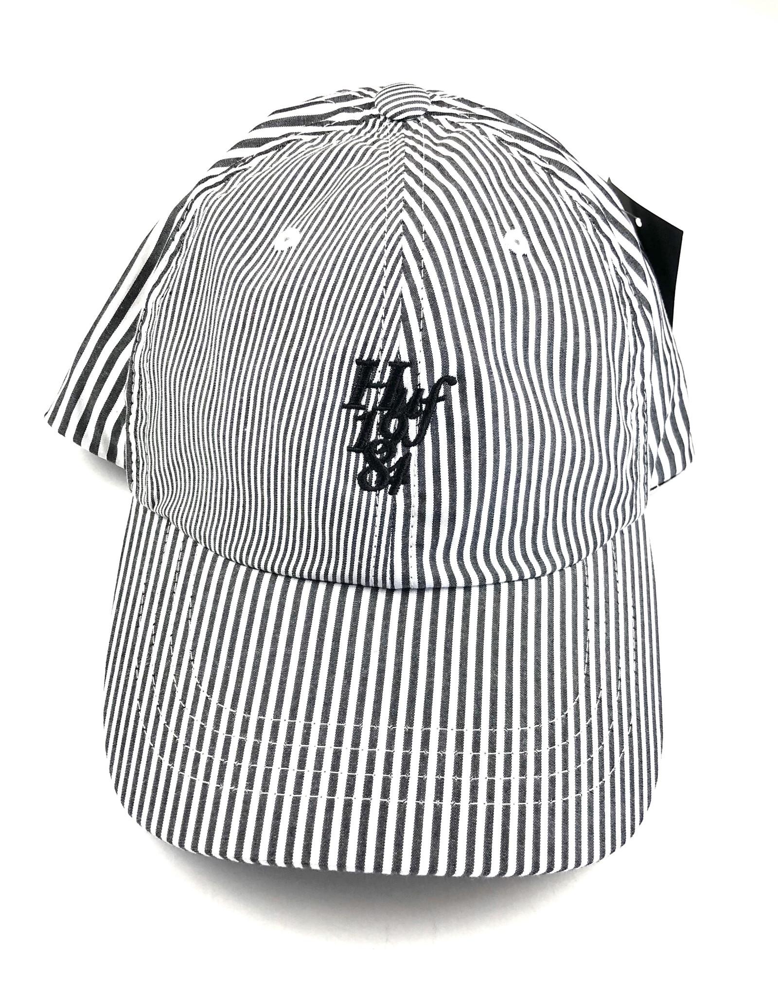 HUF DISORDER CV 6 PANEL HAT - WHITE
