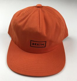 BRIXTON BRIXTON RIFT MP SNAPBACK HAT - ORANGE