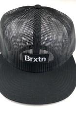 BRIXTON BRIXTON GATE MESH CAP HAT - BLACK