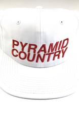 PYRAMID COUNTRY PYRAMID COUNTRY ARIZONA HAT - WHITE/RED