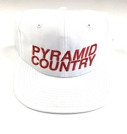PYRAMID COUNTRY PYRAMID COUNTRY ARIZONA HAT - WHITE/RED