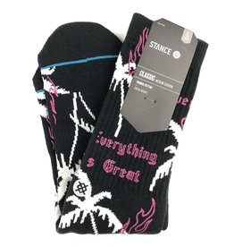 STANCE STANCE EVERYTHING IS GREAT SOCK - BLACK