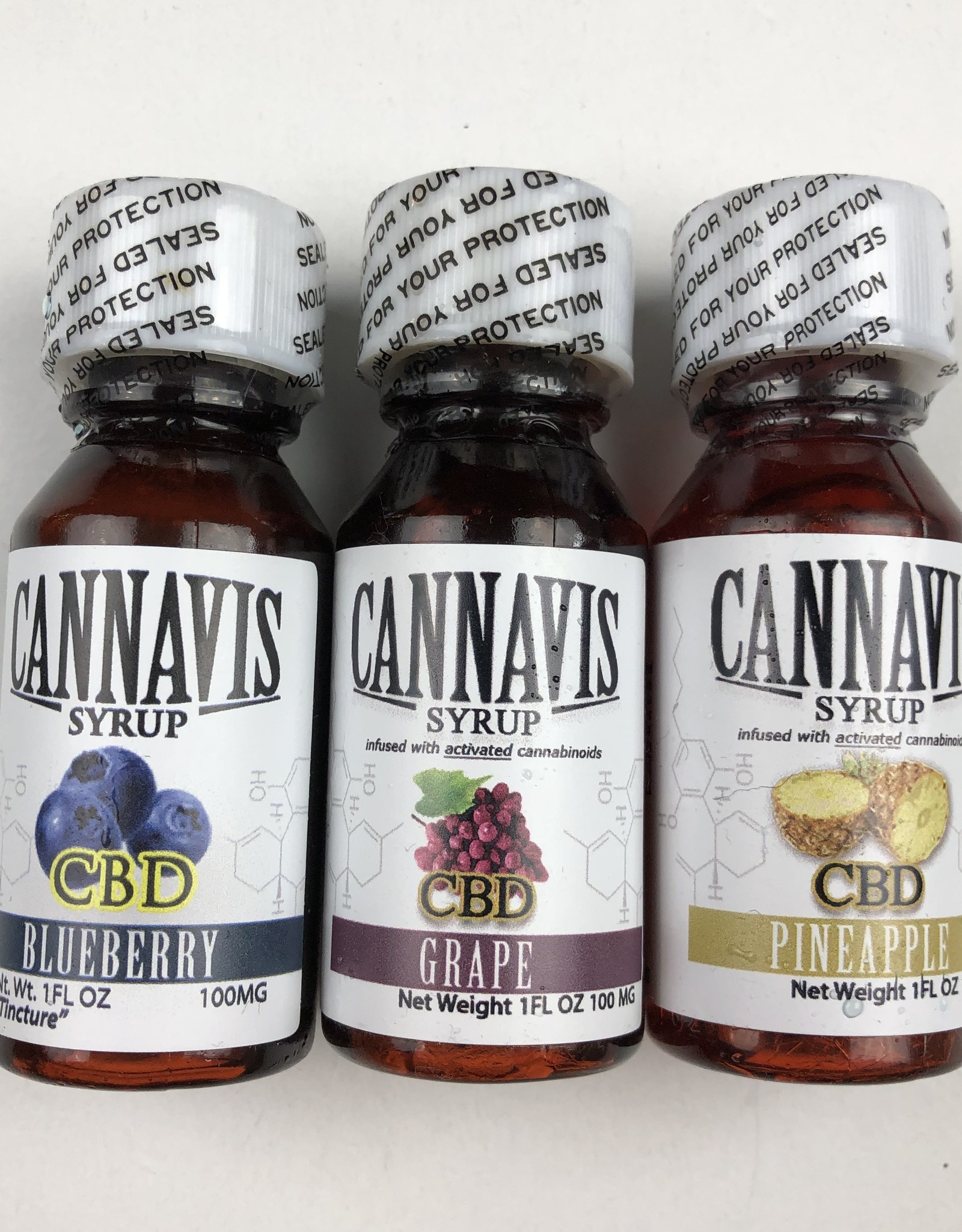 CANNAVIS CANNAVIS CBD 1 OUNCE SYRUP - (ALL FLAVORS)