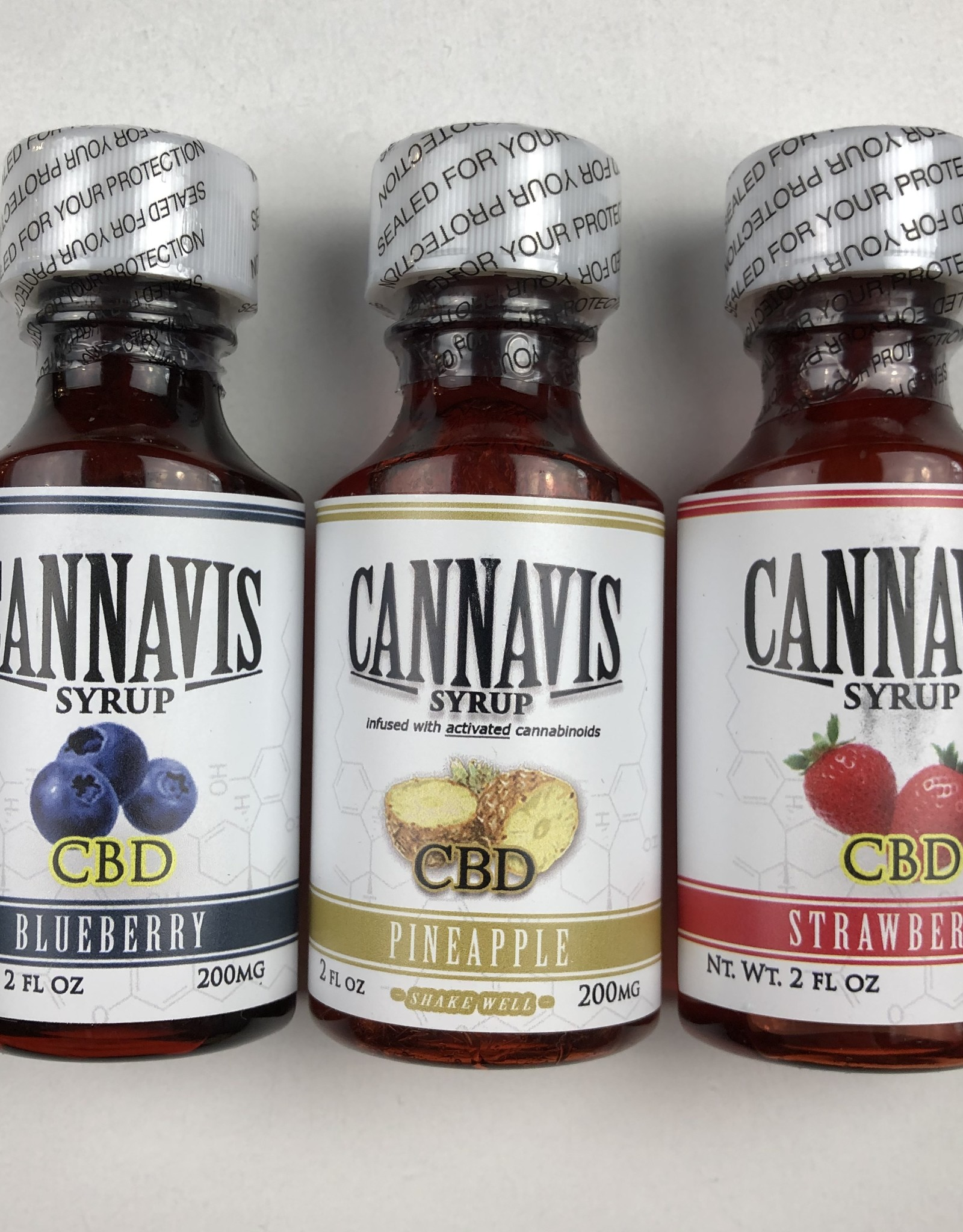 CANNAVIS CANNAVIS CBD 2 OUNCE SYRUP - (ALL FLAVORS)
