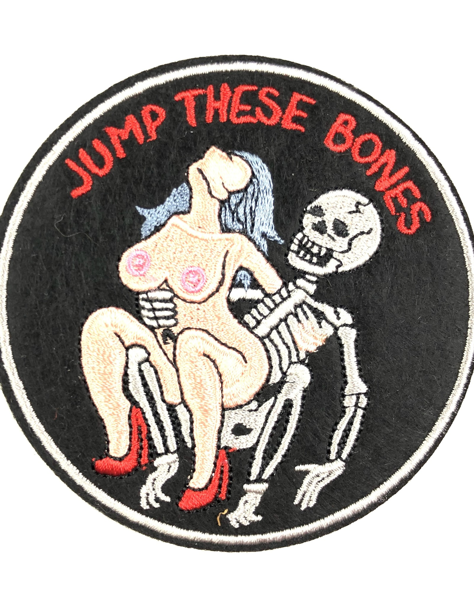 DIRTY NEEDLE JUMP THESE BONES RE-ISSUE PATCH