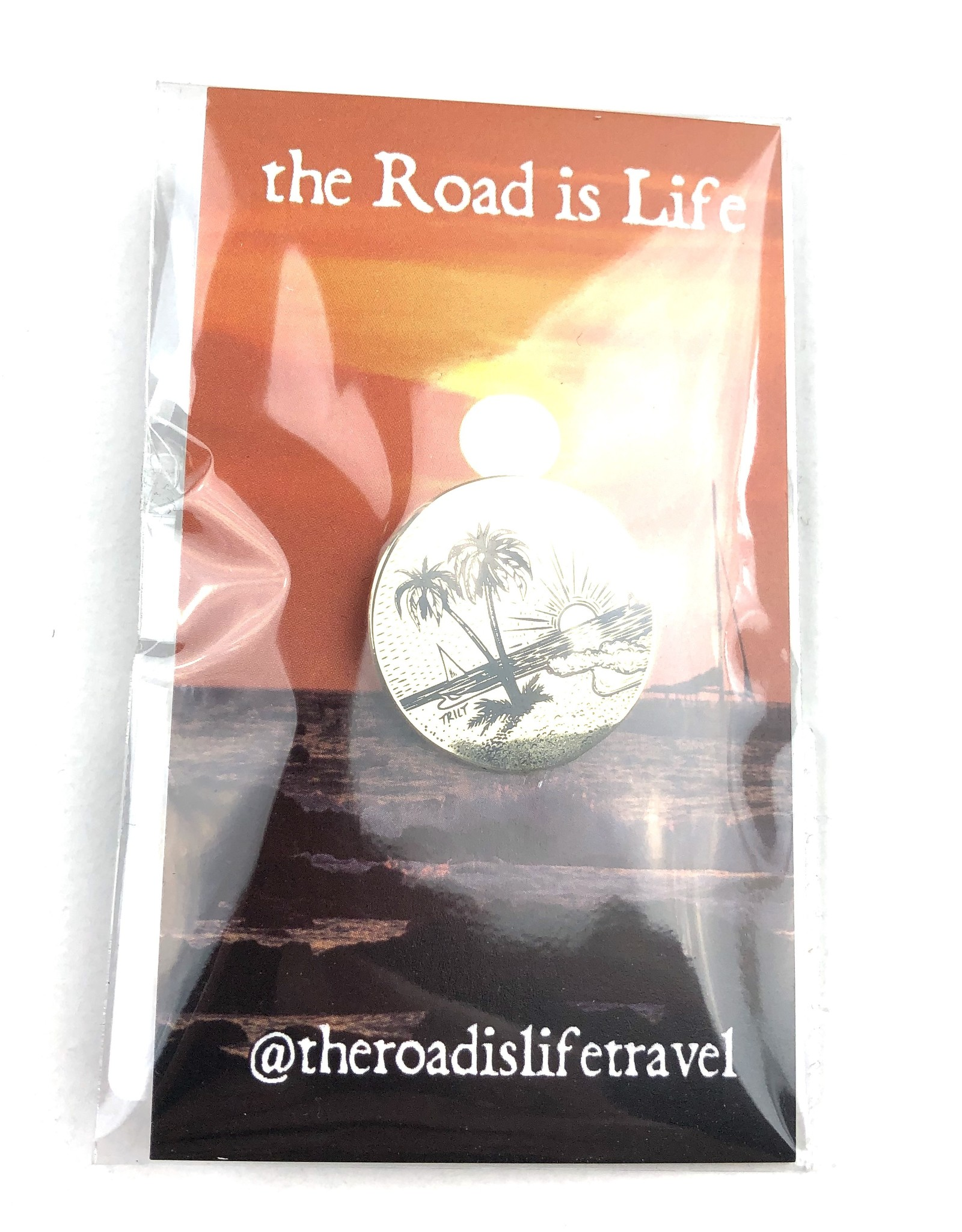 THE ROAD IS LIFE SUMMERTIME GOLD PIN
