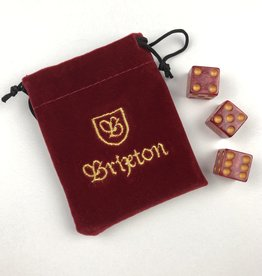 BRIXTON BRIXTON HIGH ROLLER DICE SET - RED