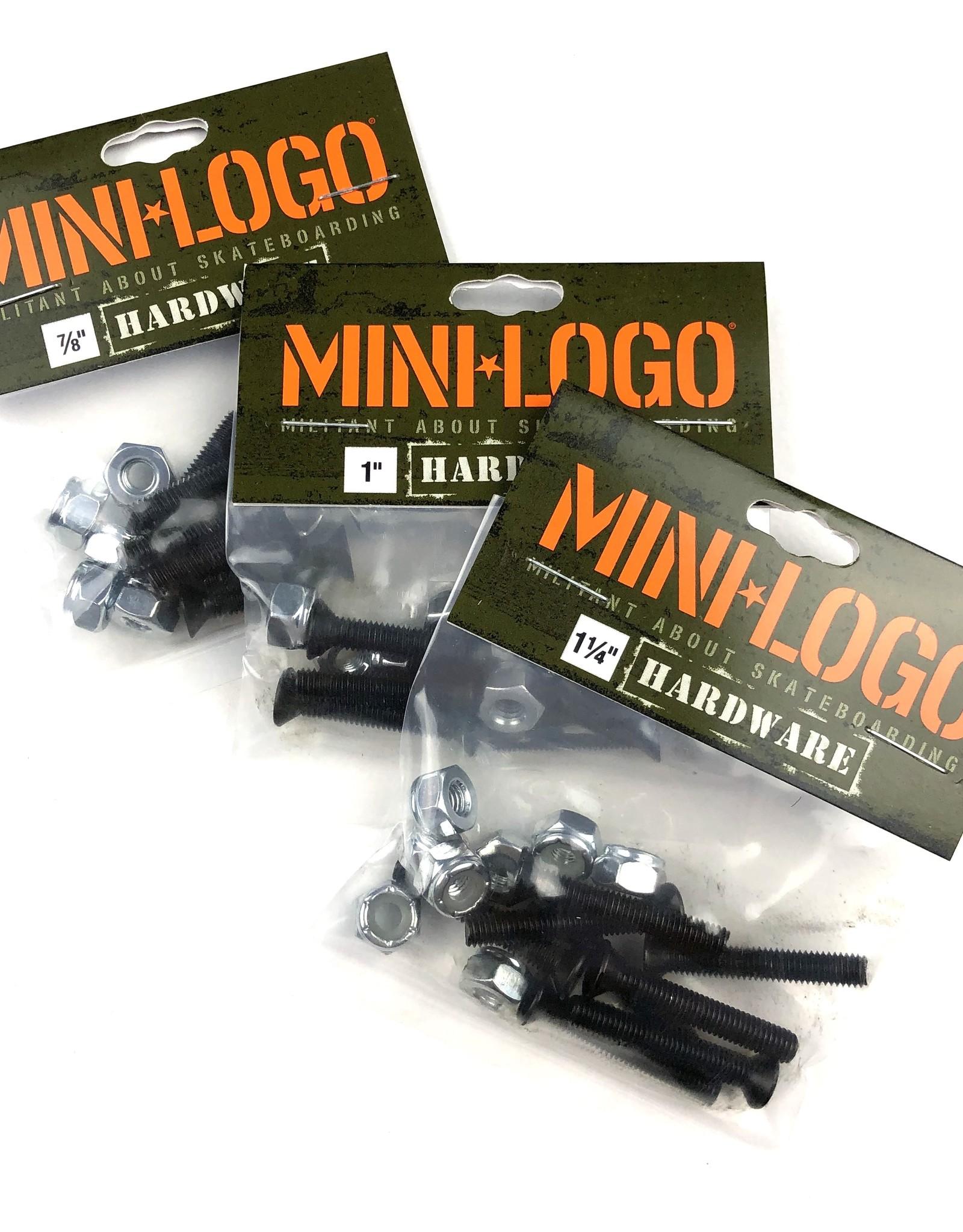 "MINI LOGO Militant Skateboard Hardware 1 1//4"" Screws Nuts Phillips"