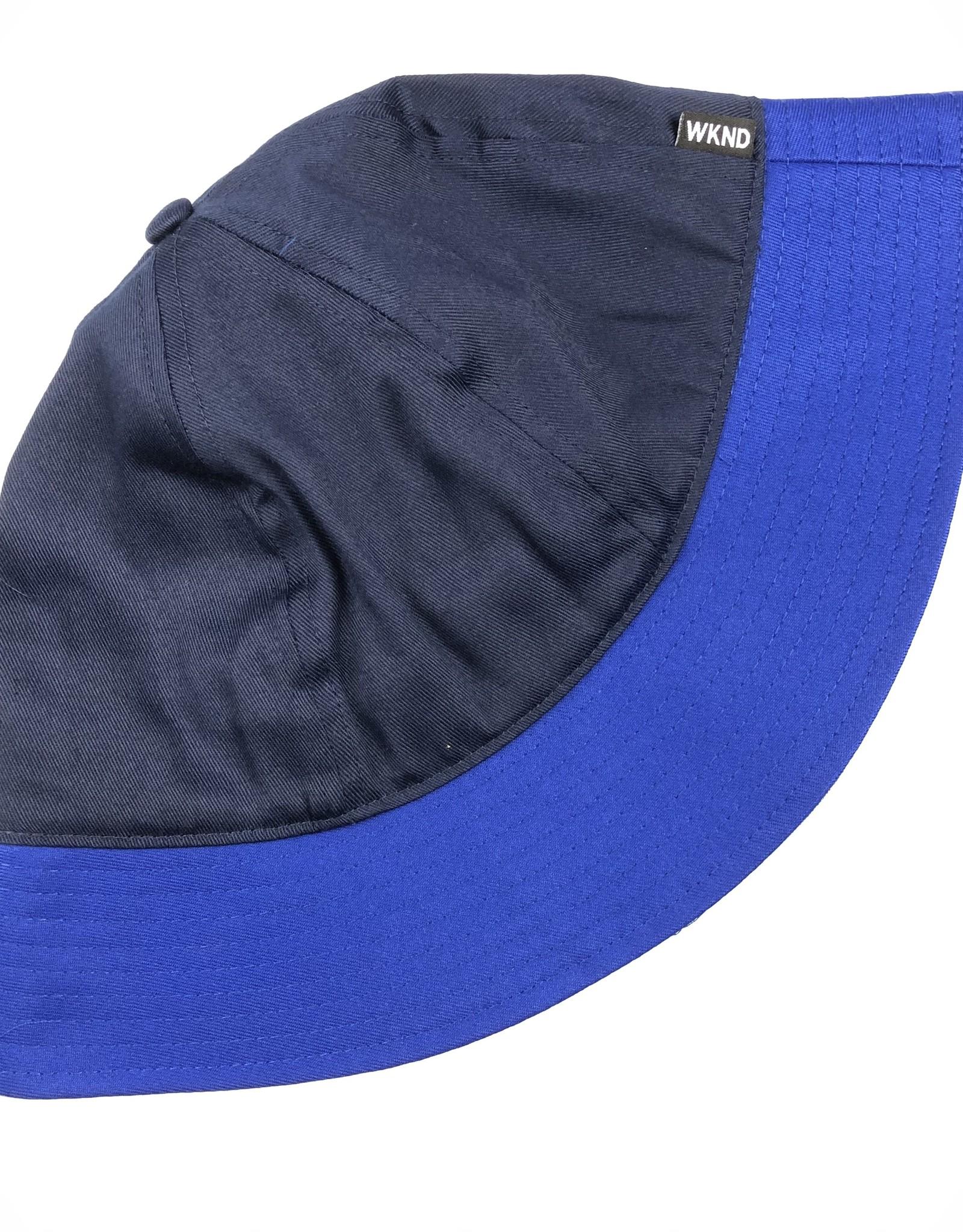 WKND BLUE BUCKET HAT - BLUE/NAVY