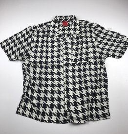 WKND ROMEO S/S BUTTON UP - BLACK/WHITE