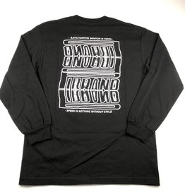 P1 BRAND P1 BRAND STACKED P1RELLI L/S TEE - BLACK