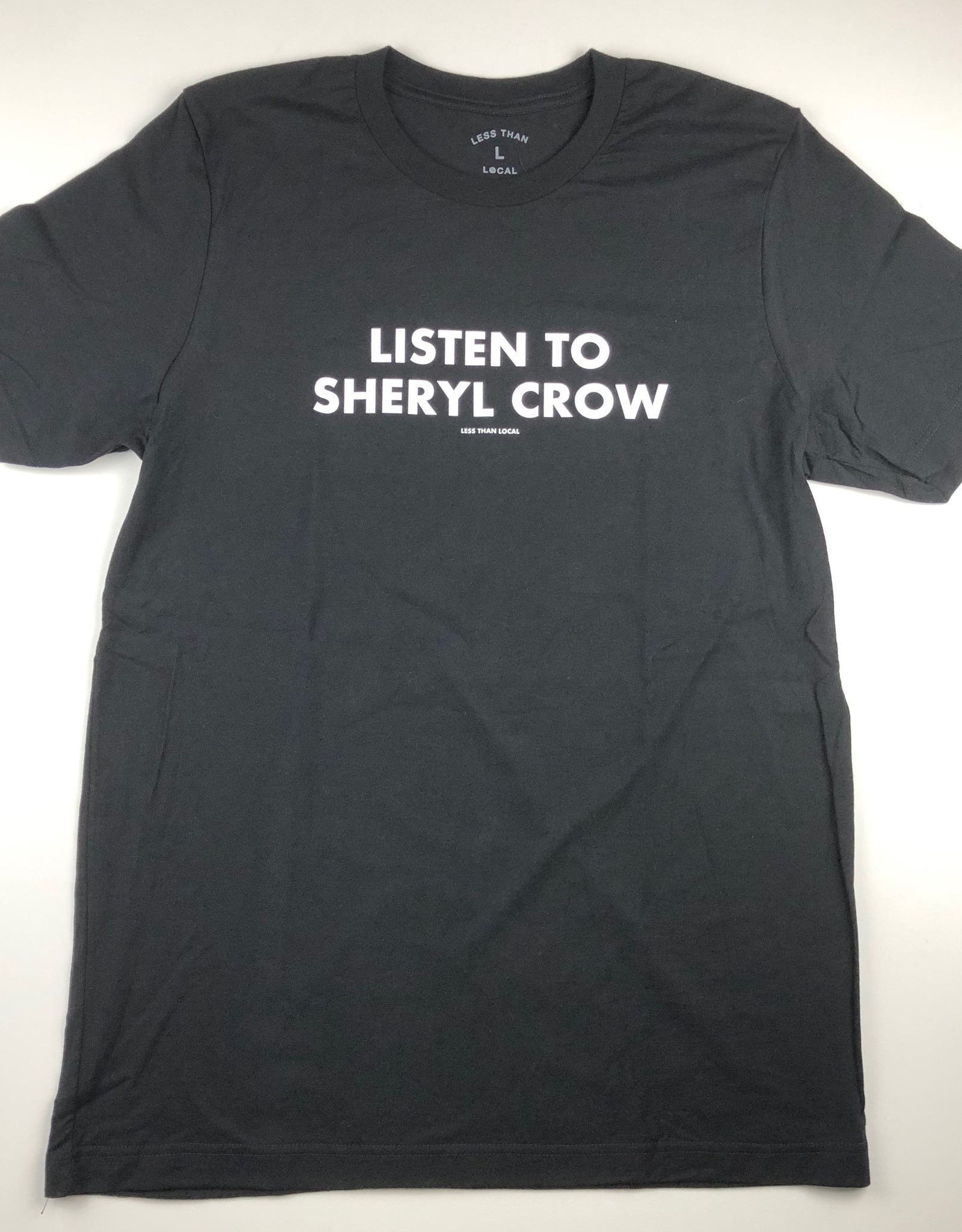 LESS THAN LOCAL LESS THAN LOCAL LISTEN TEE - BLACK
