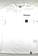 TROJAN HOT SEX S/S POCKET TEE - WHITE