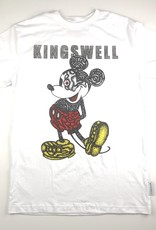 KINGSWELL KINGSWELL MOUSE EYE S/S TEE - WHITE